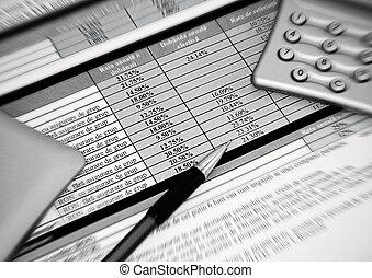 bank, forsikring, kontrakt
