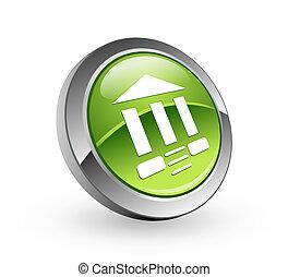 Bank - Green sphere button