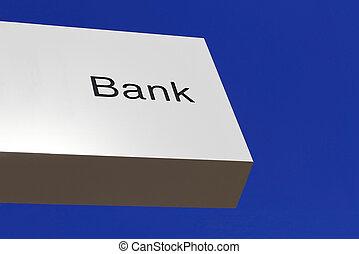 bank, handlowy, korporacja, biuro, znak