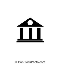 Bank Icon. Business centre vector illustration on white background