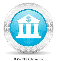 bank icon, christmas button