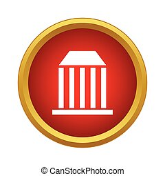 Bank icon in simple style