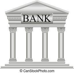 Bank icon on white background.