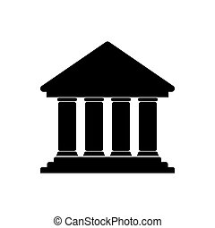 Bank icon on white background