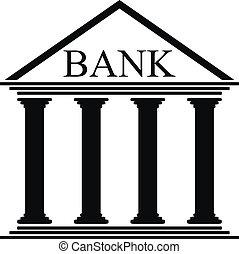 Bank icon on white background - vector illustration.