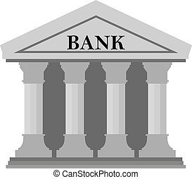Bank icon on White Background.