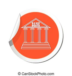 Bank icon. Vector illustration