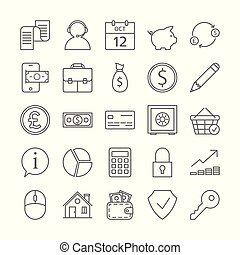 Bank icons set.