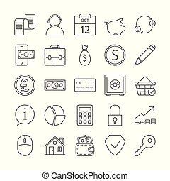 Bank icons set.