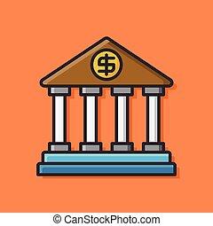 bank, ikone
