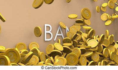 Bank increasing fund animation