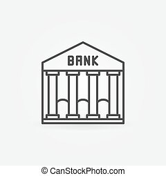Bank line icon