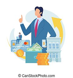 Bank Loan for Small Business Flat Vector Concept
