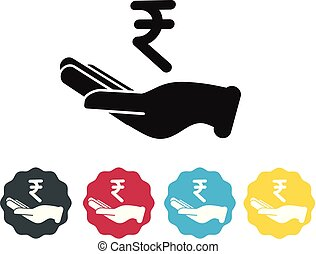 Bank Loan of Indian Rupee Icon