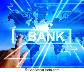 Bank Map Displays International and Internet Banking