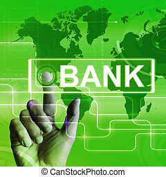 Bank Map Displays Online and Internet Banking