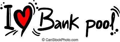 bank, miłość, kałuża