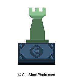 bank notują, ikona, dzioby, pieniądze