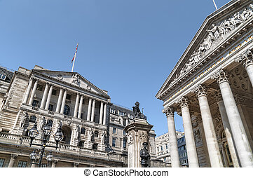 Bank of England and Royal Exchange,London.