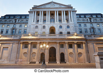Bank of England facade in London