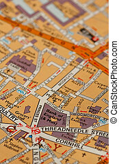 bank of england location on a street map