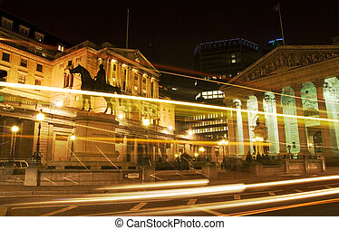 Bank of England, London - Bank of England and Royal Exchange...