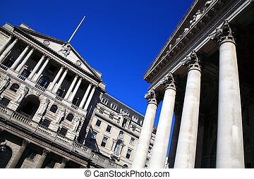 Bank Of England & Royal Exchange - The Bank Of England and...
