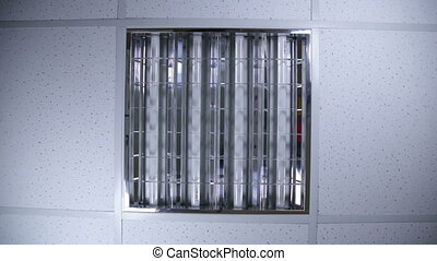 Bank of fluorescent lights - fluorescent lights