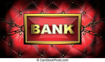 bank  on velvet background