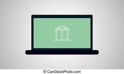 Bank online animation