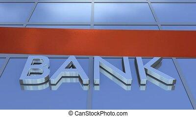 Bank opening cutting ribbon shot clip