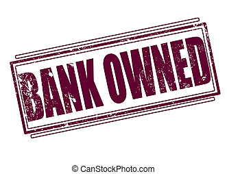 bank owned grunge stamp on whit vector illustration