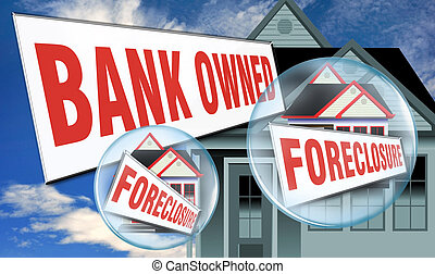 Bank Owned Home. - Bank owned foreclosure.