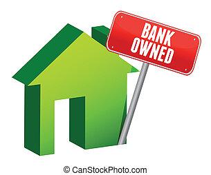 bank owned property illustration design over white