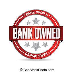 bank owned seal stamp illustration design over a white...
