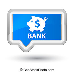 Bank (piggy box dollar sign) prime cyan blue banner button