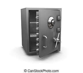 3D render of a bank safe
