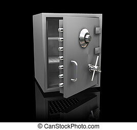 Bank safe - 3D render of a bank safe