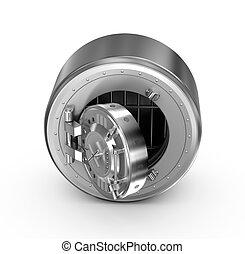 Bank safe concept icon