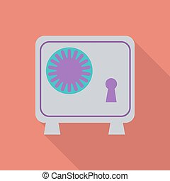 Bank safe icon.