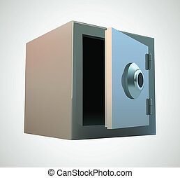 Bank safe illustration