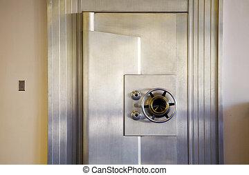 Bank Safe - Photo of an attractive, vintage bank safe