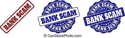 BANK SCAM Scratched Stamp Seals