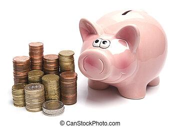 bank, schweinchen