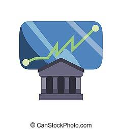 bank smartphone chart