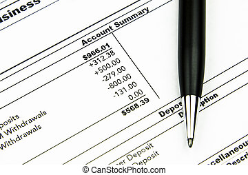Bank Statement - A business account monthly bank statement...