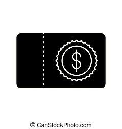 bank, symbol pieniędzy, nuta, czek