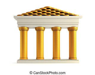 bank, symbolisch