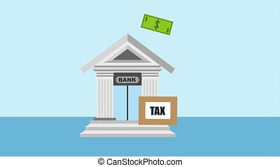 bank tax related - bank tax banknote dollar animation hd