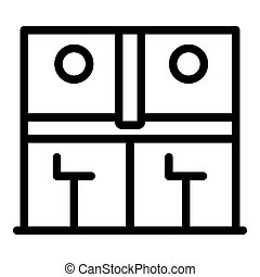 Bank teller work icon, outline style